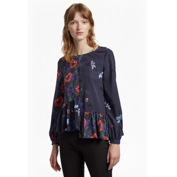 French Connection Tops - Lisette Crepe Round Neck Floral Top